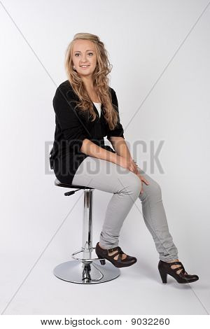Sitting On A Bar Stool