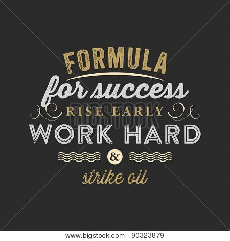 Inspirational Quote Vector Illustration Poster