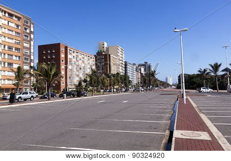 Empty Parking Area On Durban Beachfront