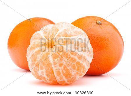 tangerine or mandarin fruit isolated on white background cutout