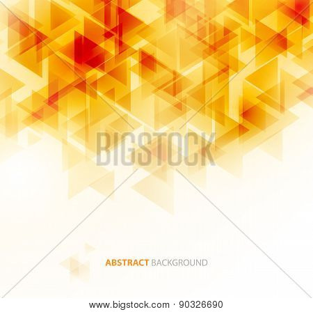 Orange shiny technical background. Vector