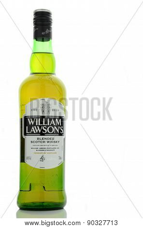 William Lawsons whisky isolated on white background.