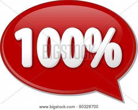 Word speech bubble illustration of discussion forum blog percent discount one hundred 100