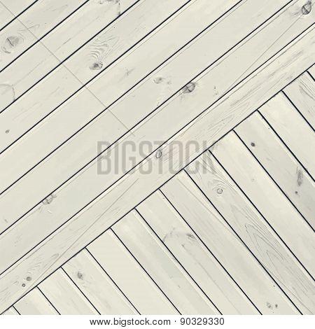 White Diagonal Planks