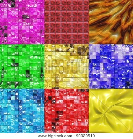 Set of Sweet Candy Tiles Texture