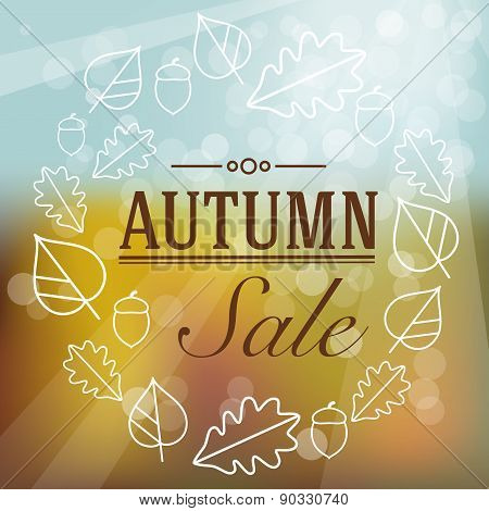 Autumn Sale Label