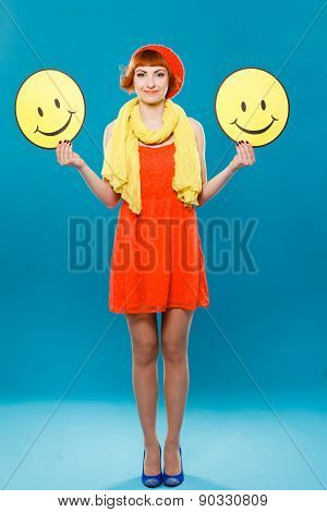 French woman wearing beret. positive, smiles, joy, happiness,