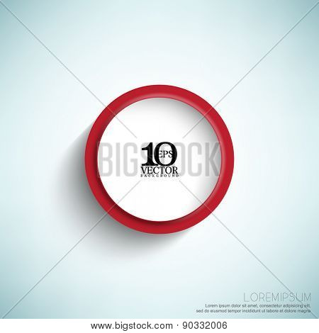 eps10 vector isolated embossed round frame with shadow business background