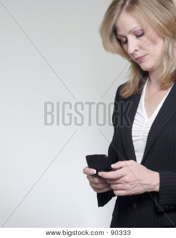 Lady With A Blackberry