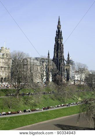 East Princes Street Gardens, edinburgh, scotland,