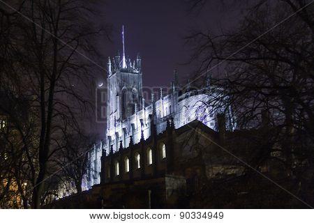 St. John's Episcopal Church at night - Edinburgh, Scotland