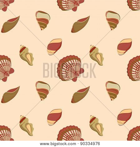Seashell marine pattern in neutral colors