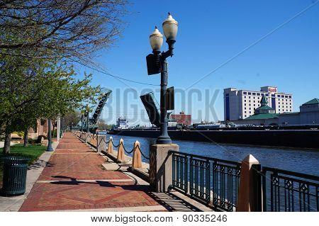 Joliet, Illinois Riverfront Scene