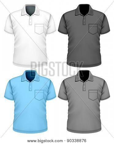 Men polo-shirt. Vector illustration.