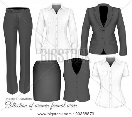 Formal wear for women. Vector illustration.