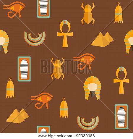 Seamless background on ancient Egypt theme