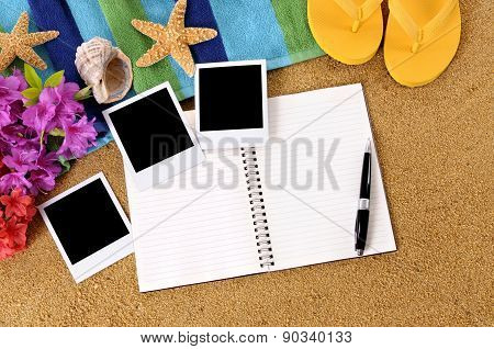 Hawaii Beach Scene With Blank Photos