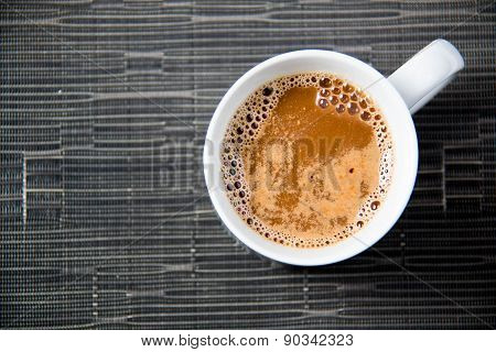 Hot Cup Of Coffee With