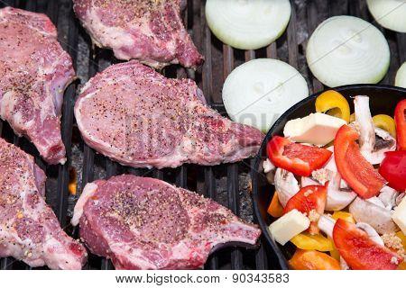 Pork Chop Dinner On The Bbq
