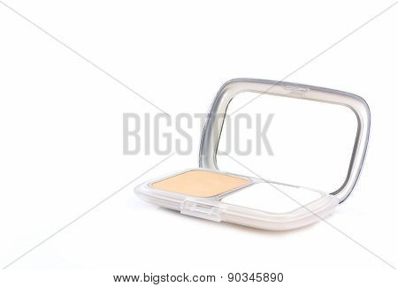 Makeup Powder In White Case.