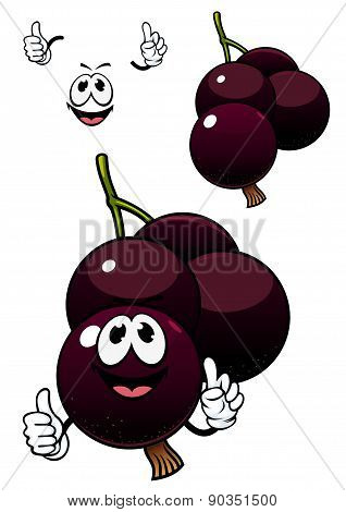 Cute cartoon currant berry fruit