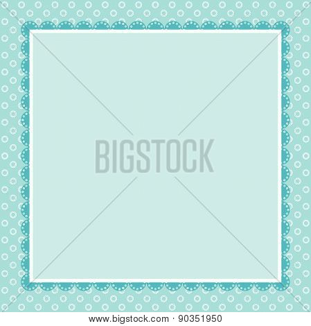 Blue Greeting Card Design.