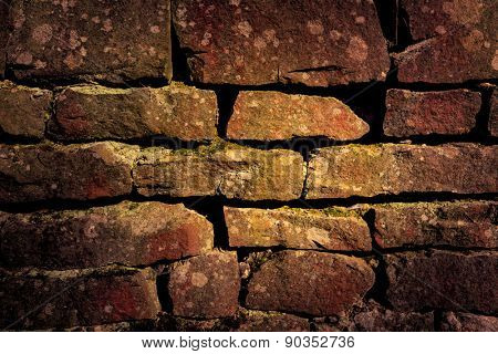 abstract background with very old brickwork
