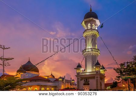 Kapitan Keling Mosque After Sunset