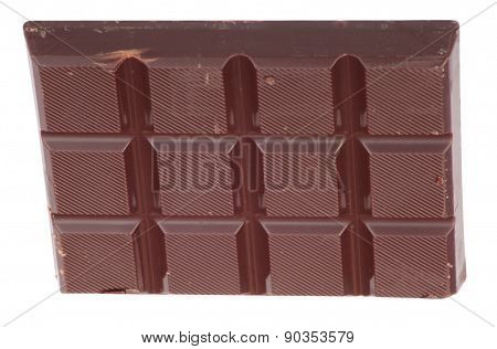 Bar Of  Brown Chocolate Isolated