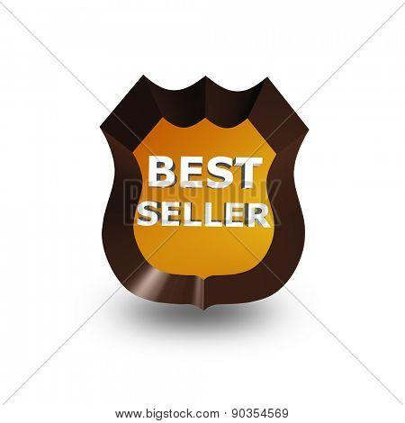 best seller icon on white 3d