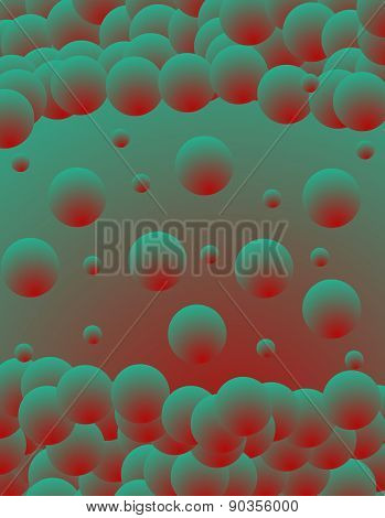 Turquoise abstract glowing background