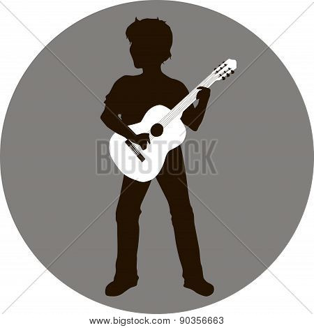 Silhouette of guitarist