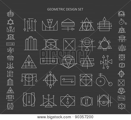 The Set Of Geometric Signs.