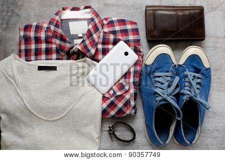 Still Life Of Casual Man