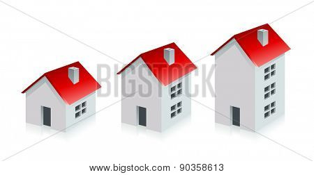 House. Real Estate. Grow Business Concept