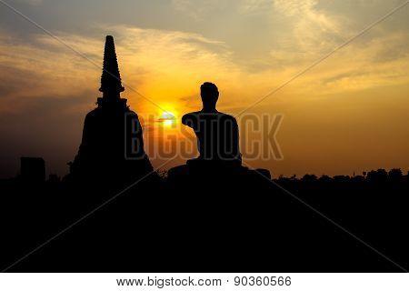 Acient Statue Silhouette