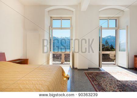 Architecture; apartment furnished; wide bedroom