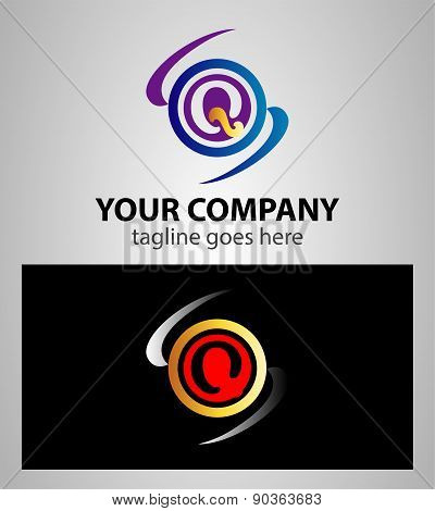abstract icons based on the letter Q logo