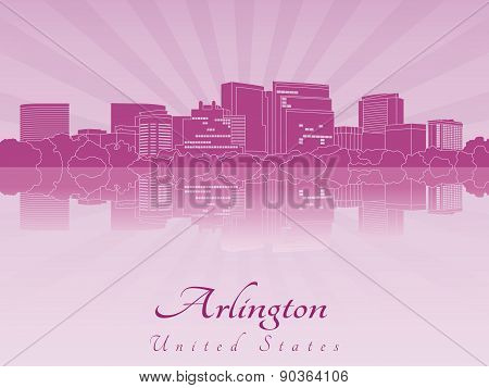 Arlington Skyline In Purple Radiant Orchid
