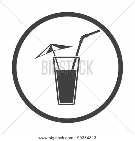 Vector. Alcohol Drink Icon. Cold Summer Cocktail