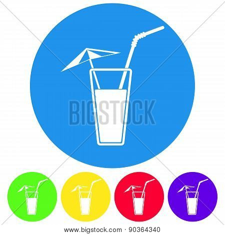 Illustration Of Alcohol Drink Icon. Vector