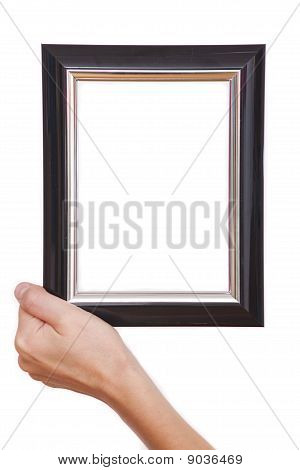Hand Holding Picture Frame