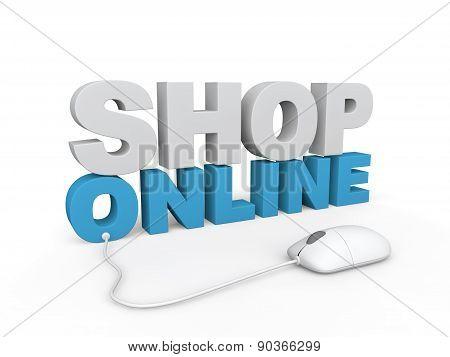 3d render of shop online concept
