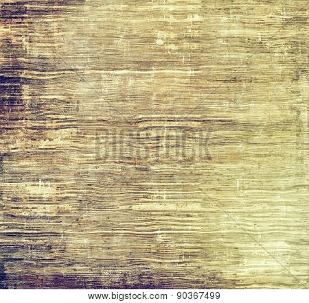 Computer designed highly detailed vintage texture or background. With different color patterns: yellow (beige); brown; gray