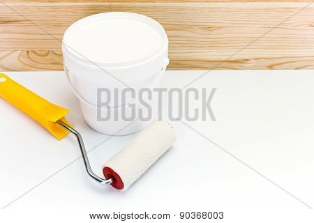 Paint Roller With Paint Can