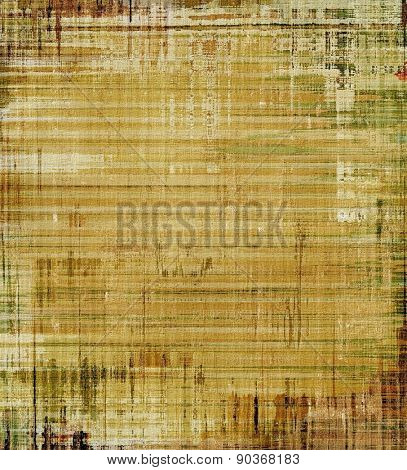 Old-style background, aging texture. With different color patterns: yellow (beige); brown; gray