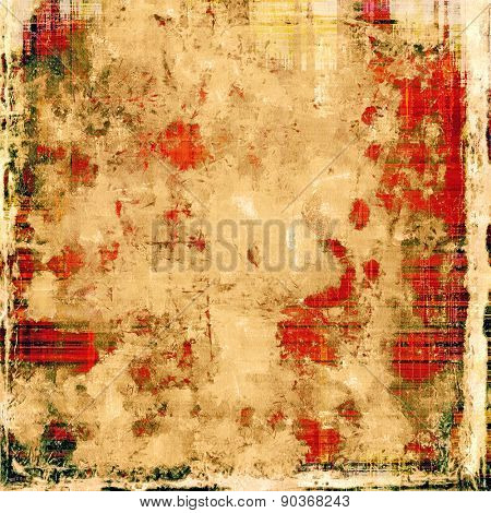 Aging grunge texture designed as abstract old background. With different color patterns: yellow (beige); brown; gray; red (orange)