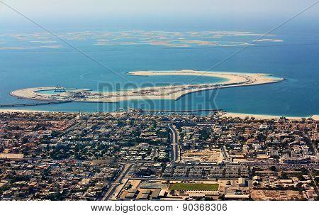 Aerial view of Dubai city