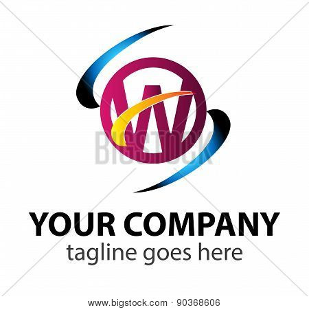 Letter W logo design template letter W icon