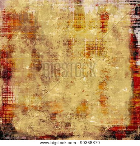 Textured old pattern as background. With different color patterns: yellow (beige); brown; red (orange)
